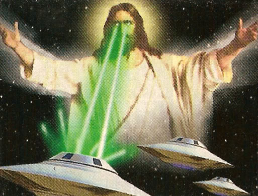 Space Jesus commands you!